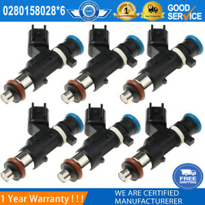 6PCS  Fuel Injectors Fits For Dodge Chrysler Sebring 2.7L 3.5L V6 0280158028 NEW
