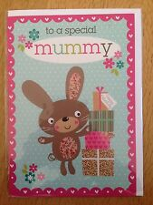 Mummy Mother Bunny Birthday Greeting Note Card *NEW* Adult Kids Female (641)
