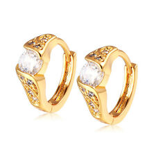 Womens Jewelry Crystal Stud Earrings Statement Korean Yellow Gold Plated jewelry