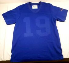 Champion #19 Blue Short Sleeve Football Jersey Made in Usa Polyester Sz. Small