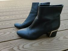 DKNY womens Leather black Booties Shoes Size 9