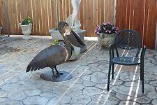 Arredamento giardino Pellicano ferro battuto artigianale scultura pelican animal