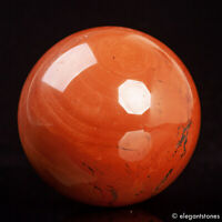 536g 71mm Large Natural Red Jasper Crystal Sphere Healing Ball Chakra
