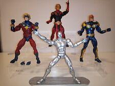Marvel Legends Hasbro Nova Mar-Vell Silver Surfer Adam Warlock action figure lot