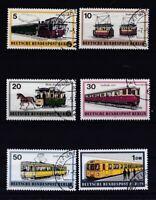 Berlin 1971 gestempelt  MiNr. 379-384 Berliner Verkehrsmittel