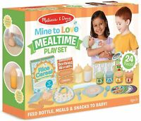 NEW Melissa & Doug Mine to Love Mealtime Play Set for Baby Doll FREE SHIPPING