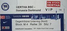 VIP TICKET 2008/09 Hertha BSC Berlin - Borussia Dortmund