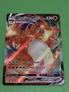 Charizard VMAX Pokemon Card - Ultra Rare Full Art - Darkness Ablaze