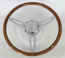 "Jeep CJ5 CJ7 Cherokee Wrangler Wagoneer GT Steering Wheel Wood 15"" Polished"