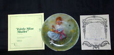 "Vintage Mother Goose Series ""Little Miss Muffet"" Collector Plate W/ Coa #13951"