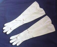 Vintage Ladies Dress Gloves-White- Elvette Royal-Adjustable Length