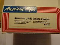 AMERICAN FLYER S SCALE 4-8651 SANTA FE GP-20 POWERED DIESEL