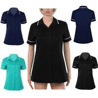 Women Healthcare Tunic Medical Maid Nurse Beauty Therapist Dentist Uniform Tops
