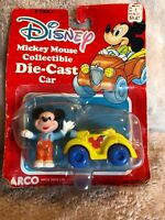 "Vintage Arco (Disney) ""MICKEY MOUSE"" Collectible Die-Cast Car, #6198, NEW! RARE!"