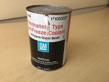 Vintage GM Permanent Type AntiFreeze Coolant Quart Can # 1050027 EMPTY