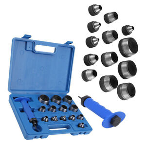 5-35mm Punch Set 13 Piece Wad Hole Punching Kit Hollow Leather Gasket Paper Tool