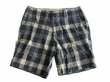 Genuine Abercrombie and Fitch A&F Blue Checked Plaid Mens Shorts 28