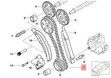 Genuine BMW E46 E53 E60 E60N E61 E61N E65 Engine Timing chain OEM 11318506869