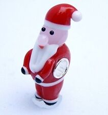 CHRISTMASS SANTA CLAUS Murano Lampwork Glass CHARM BEAD with SILVER CORE