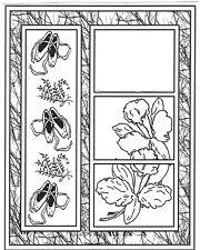 Unmounted Rubber Stamp Sets, Frame, Ballet Slippers, Floral Frame, Dance Sayings