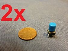 blue 2 pieces + plastic cap 6x6x7mm Tactile Push Button Switch 2pcs 2x c1