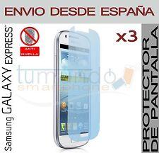 3x PROTECTOR de PANTALLA MATE ANTIHUELLAS para SAMSUNG GALAXY EXPRESS i8730