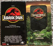 Lot of 2 Vhs Movies Jurassic Park & Jurassic Park The Lost World 1993 & 1997