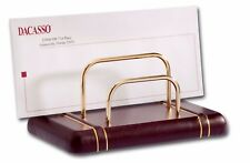 Dacasso Burgundy 24kt Gold Stripped Letter Holder