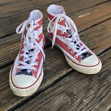 Converse America Flag High Tops M 6.5 W 8.5 Sneakers All Star Chuck Taylor Shoes