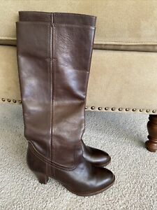 FRYE Leather TINA 77193 Knee Pull On Tall Boots 6.5