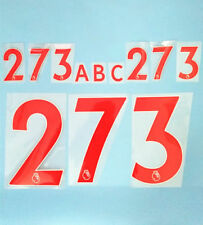 2017-2018 English  Premire League Nameset Number Font Printing Letter New