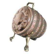 Original Copper & Oak Barrel Coal Scuttle - Reclaimed Fireplace Accessories