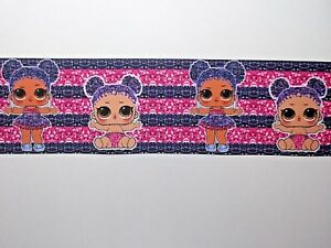 """""""SALE""""  BABY DOLL RIBBON -  Wide Grosgrain Ribbon - 75 mm x 4 Meters for £ 2.49"""