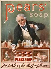 Pears Shaving Soap reproduction Advertising Poster A4 photo complexion