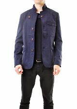 DENHAM Men's Jacket With Button Closure And Pockets Dark Blue Size M BCF610
