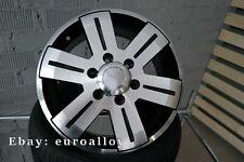 4x 16 inch 6x130 1400KG Mercedes Sprinter VW Crafter black wheels black