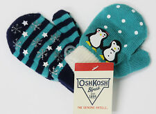 2 Pairs Baby Toddler Holiday Winter Mitten Gloves 2 - 4T OshKosh B'gosh