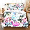 Flamingo Beach Doona Quilt Duvet Cover Set Single/Double/Queen/King Bed Linen