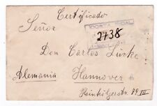 Costa Rica Registered Cover To Germany 1914 25 Cts stamp JBP