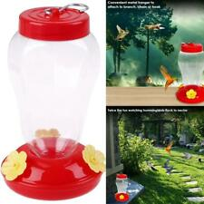 Plastic Bird Water Feeder Hanging Bottle Hummingbird Feeder Outdoor Garden Us