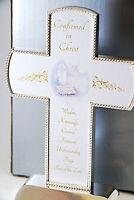 Confirmed in Christ silvertone Standing Cross keepsake For rememberance gift