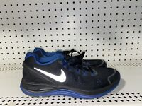 Nike Lunarglide 4 Boys Athletic Running Shoes Size 5Y Womens 6.5 Black Blue Gray