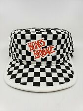 VANS Bones Brigade Checkerboard Black White Painters Hat Skateboarding Free Ship