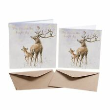 The Stars In The Bright Sky - 8 Gold Foiled Xmas Cards & Envelopes - Wrendale