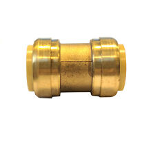 Libra Supply 1-1/2 inch, 1-1/2'' Push-Fit brass Coupling, Push to Connect