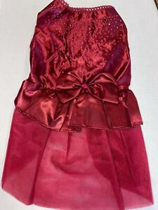 L RUBY RED PARTY Dress NEW! Med-Large Dog Average GORGEOUS!