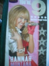 You're 9 Have An Unforgettable Day(Hannah Montana with Door Hanger) Card