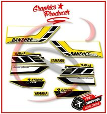 Yamaha Banshee Decals 2006 350 Twin Model Graphics For OEM Fender Yellow Sticker
