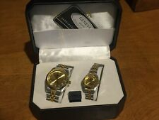 Geneva Rolex Style His and Hers Wristwatches in Original Box