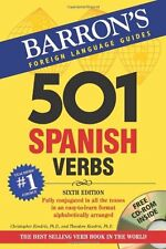 Barrons Foreign Language Guides: 501 Spanish Verbs (Book & CD-ROM) by Christo